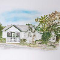 Nastassia Pratt, Adelaide Village House II (2020), watercolor and paper, 20