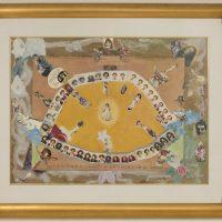 Margarita Azurdia, Autorretrato (1992), de la serie De lectura simbólica. Collage y técnica mixta sobre papel. Colección privada