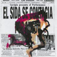Hugo Corripio, El Sida se Contagia por Miedo, 1994 (Reimpresión 2019). Colección Visualidades y VIH en México, Centro de Documentación Arkheia, MUAC, UNAM