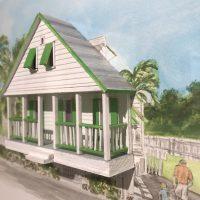 Nastassia Pratt, CottonTree House (2020), watercolor and paper, 20