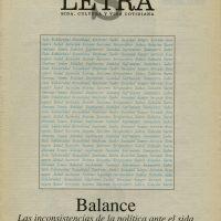Letra S, [Portada No. 1] (1994). Colección Visualidades y VIH en México/Alejandro Brito. Centro de Documentación Arkheia, MUAC, UNAM
