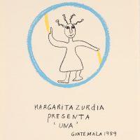 Margarita Azurdia, Dibujo para afiche de presentación de danza UNA. Facultad de Humanidades Universidad de San Carlos de Guatemala, 22 de agosto 1989. Colección privada