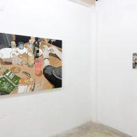 Pedro Medina, Micropolíticas en escenas. Vista de instalación. Imagen cortesía de La ONG