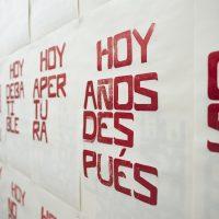 José Ruíz, Impresiones sobre actualidad (2020). Vista de instalación. Imagen cortesía de Espacio El Dorado
