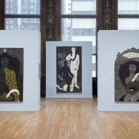 NKAME: A Retrospective of Cuban Printmaker Belkis Ayón (1967-1999). Installation view. Photo by James Prinz Photography