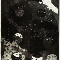 NKAME: A Retrospective of Cuban Printmaker Belkis Ayón (1967-1999). Image courtesy of Chicago Cultural Center