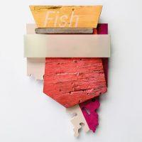Andres Ferrandis, Fish (2020). Acrylic on wood, polyester, objet trouve and aluminum. Image courtesy of Ruiz-Healy Art