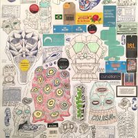 Cisco Jiménez, Untitled (2018). Collage and drawings. Image courtesy of Ruiz-Healy Art