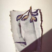 Sofia Fanego, Trilogía Edípica (2020). Collage sobre papel Washi. Imagen cortesía de Wunsch Gallery