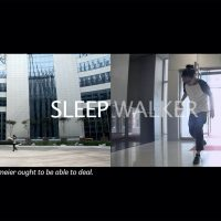 Jeamin Cha, Sleep Walker (2009). Video still, dual channel video, 5 mins. Courtesy of the artist