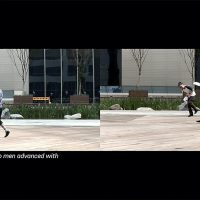 Jeamin Cha, Sleep Walker (2009). Video still, dual channel video, 5 mins. Courtesy of the artist