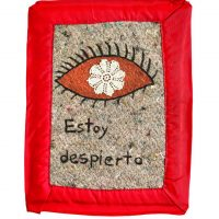 Estoy despierto (I am awake), 1990–93. Acrylic paint and thread on natural and synthetic fibers, 13 ¼ × 10 × ¼ inch (33.3 × 25.4 × 0.6 cm). Solomon R. Guggenheim Museum, New York. Purchased with funds contributed by the Latin American Circle, 2019. © Estate of the Artist, Familia Feliciano Centurión