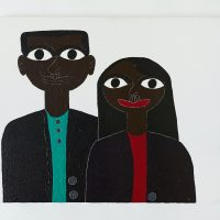 Mark Williams, Saw Them on a Picture in the Parking Lot, n.d. Acrylic on canvas. Image courtesy ofThe Gallery @