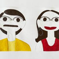 Mark Williams, Mork and Mindy Uh huh, n.d. Acrylic on paper. Image courtesy ofThe Gallery @