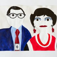 Mark Williams, The Drew Carey Show, n.d. Acrylic on paper. Image courtesy ofThe Gallery @