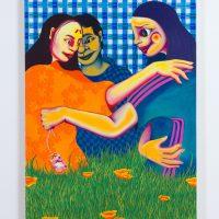 Zoé Blue M. Retroactive Matriarchy, 2019. Acrylic on canvas. Image courtesy ofThe Gallery @