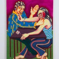 Zoé Blue M. Suspiciously Similar, 2020. Acrylic on canvas. Image courtesy ofThe Gallery @