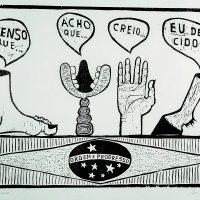 Antonio Henrique Amaral, Consensus (1967). Woodcut. Image courtesy ofInstituto Tomie Ohtake