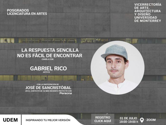 La UDEM te invita a la charla entre Gabriel Rico y José de Sancristóba