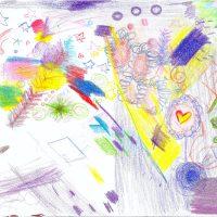 josé fernando gress, dreamgirl fantasy wonderland(made in collaboration with mela gress) (2019). Grabado. Imagen cortesía de Abrir Galería