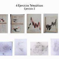 Victor Avellaneda / Luis Arroyo, 4 Ejercicios Telepáticos (2020). Dibujo en lápiz y tinta sobre papel. Estado Carabobo y Caracas (respectivamente) - Venezuela