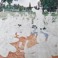 Pedro Medina, La insistencia de querer estar. Pintura