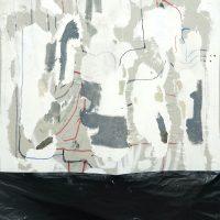 Juan Tessi, 5f8ab1_4771137 (2014). Óleo, acrílico, plástico y marcador sobre tela