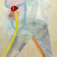 Juan Tessi, Dos figuras (2020). Óleo sobre tela