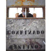 Bairo Martínez. Paisajes bucólicos XIX, confinado. Técnica mixta, ensamble, 150 x 90 cms, 2020. Imagen cortesía de la curadora