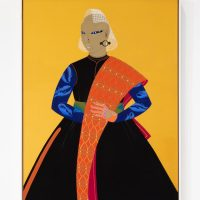 Rajni Perera, Ancestor 1 (2019). Mixed media on paper. Courtesy of Patel Brown Gallery, Toronto