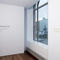 Installation view, RELATIONS: Diaspora and Painting, 2020, PHI Foundation. Yoko Ono, Painting for the Wind, 1961. Courtesy of the artist © PHI Foundation for Contemporary Art, photo: Richard-Max Tremblay