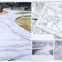 Christo, Wrapped Walk Ways (Project for St. Stephen's Green Park - Dublin) (1983)