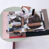 Luis Hampshire, Libro mundonomundo (2020). Vista de instalación. Imagen cortesía del artista y Galería Karen Huber